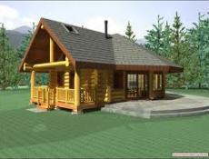 Готовые проекты домов и коттеджей из оцилиндрованного бревна.