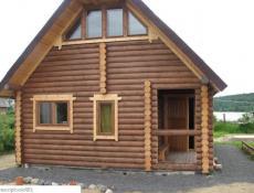 Строительство деревянных домов и бань из бревна в Москве.